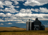 Palouse Silos with Clouds